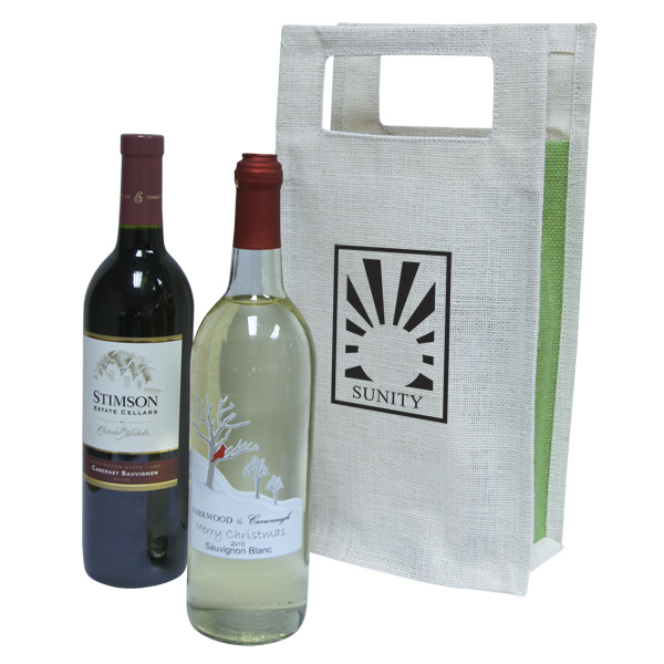 Imprinted Double Wine Tote Bag