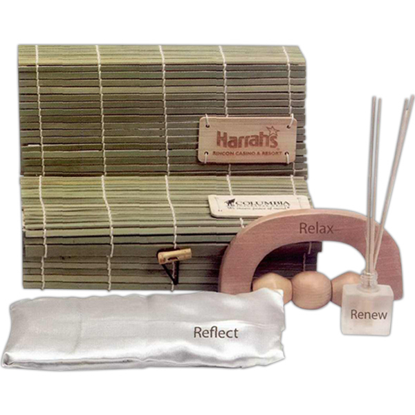 Imprinted Bamboo Relaxation Box