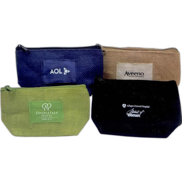 Promotional Natural jute cosmetic / carry case