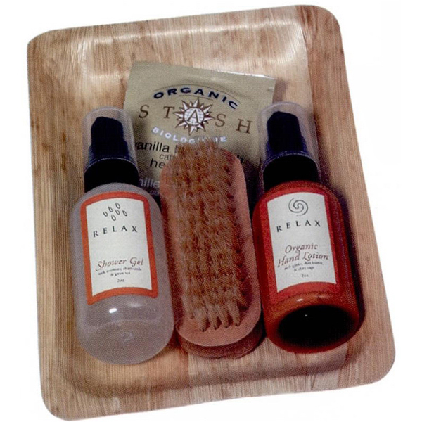 Printed Bamboo Relaxation Bath Set