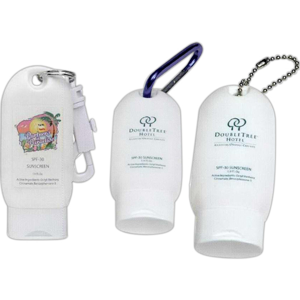 Printed Sunscreen On A Keychain
