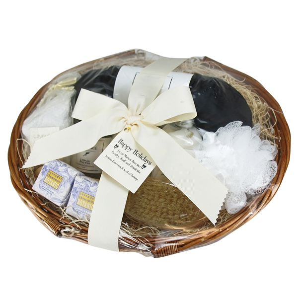 Printed Tranquil Delights Spa Basket