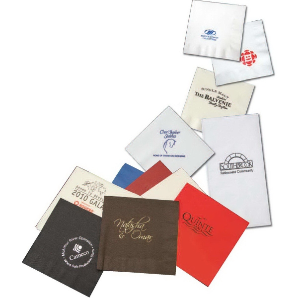 Customized Dinner Napkin - 3 Ply White