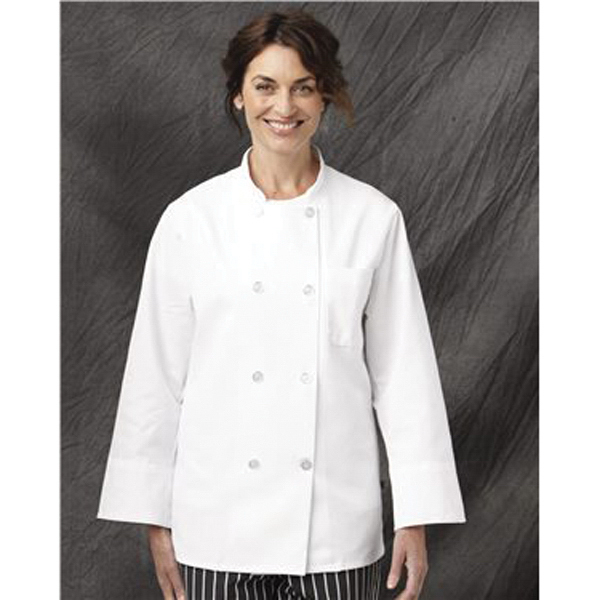Imprinted Chef Designs Eight Pearl Button Chef Coat