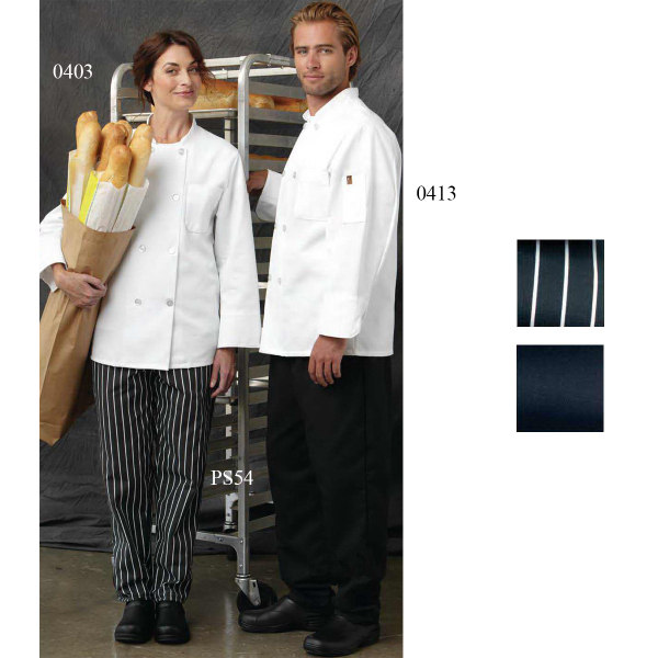 Promotional Chef Designs Eight Pearl Button Chef Coat