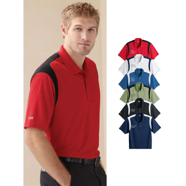 Customized IZOD Performance Sport Shirt with Contrast-color Insert