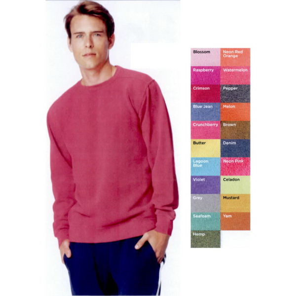 Customized Comfort Colors Pigment Dyed Crewneck Sweatshirt