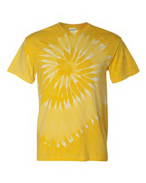Custom Tie-dyed Tone-on-Tone Spiral T-Shirt