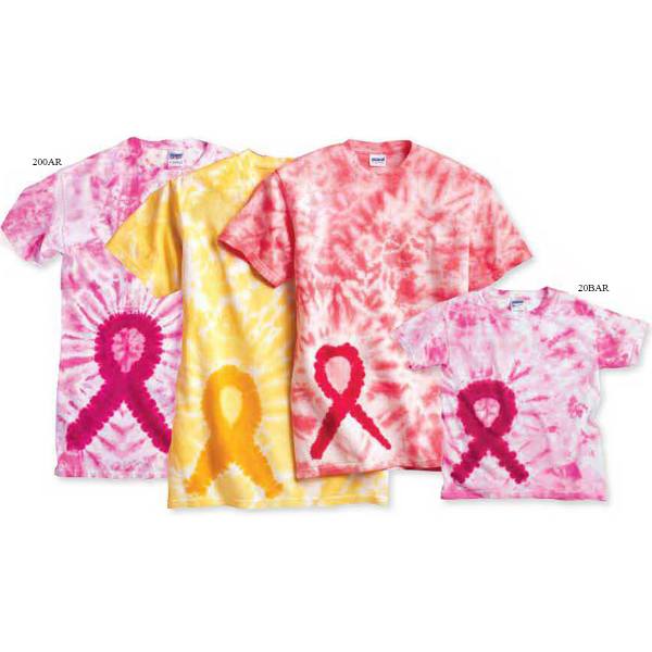Custom Tie-dyed Awareness Ribbon T-Shirt