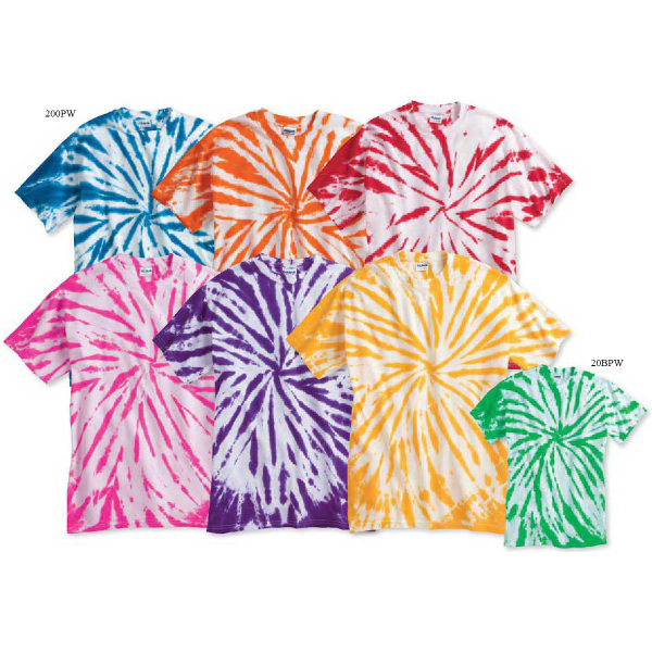 Imprinted Tie-dyed Contrast T-Shirt