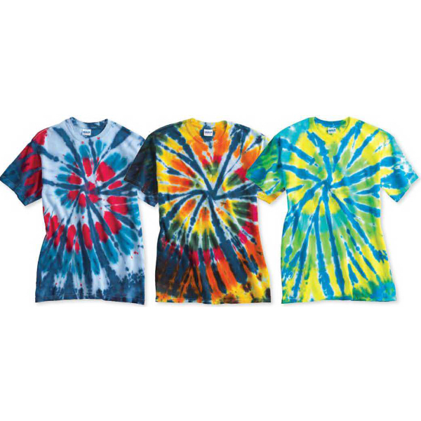 Personalized Tie-dyed Multi-Color Cut-Spiral Short Sleeve T-Shirt