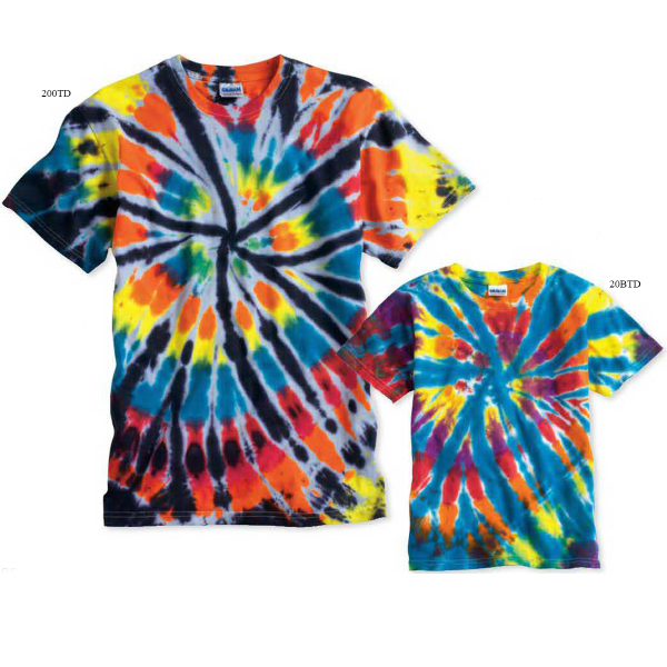 Personalized Tie-dyed Short Sleeve Rainbow Cut-Spiral T-Shirt