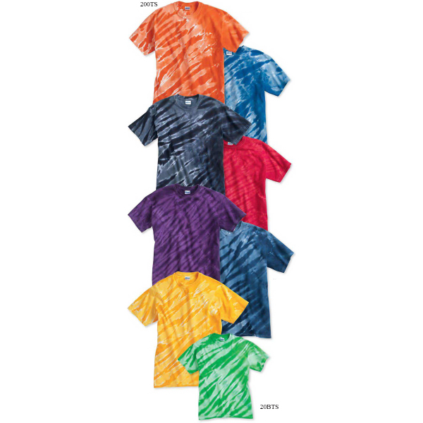 Promotional Tie-dyed Tiger Stripe T-Shirt