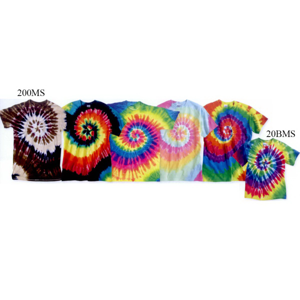 Custom Tie-dyed Youth Multi-Color Spiral Short Sleeve T-Shirt