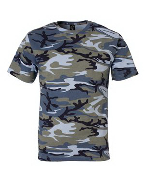 Imprinted Code V Camouflage Short Sleeve T-Shirt