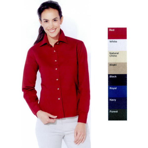 Personalized Sierra Pacific Ladies' Long Sleeve Cotton Twill Shirt