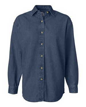 Customized Sierra Pacific Ladies' Long Sleeve Denim Shirt