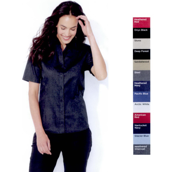 Promotional FeatherLite (R) Ladies Long Sleeve Tapered Twill Shirt