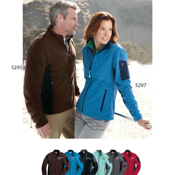 Promotional Colorado Clothing Colorblocked Full-Zip Microfleece Jacket