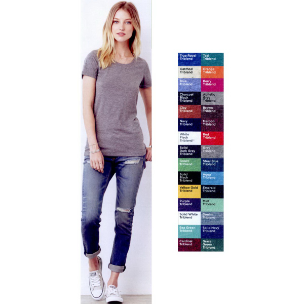 Custom Bella + Canvas Ladies' Triblend Short Sleeve T-Shirt