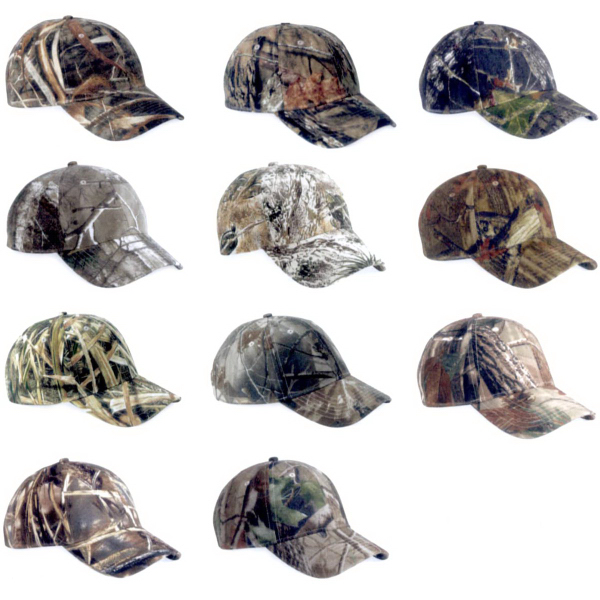 Customized Kati Licensed Structured Camo Cap with Velcro