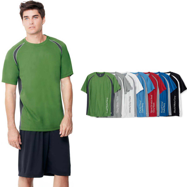 Imprinted Alo (TM) Short Sleeve Colorblock T-shirt