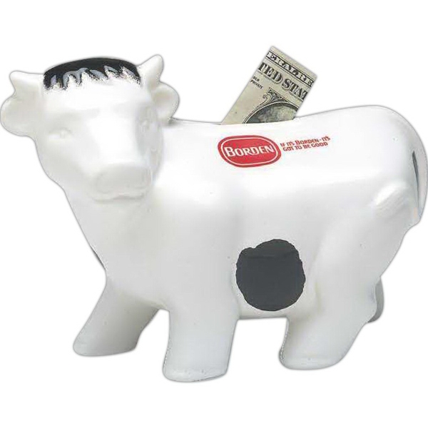 "Promotional 7 1/2"" L Cow Bank"