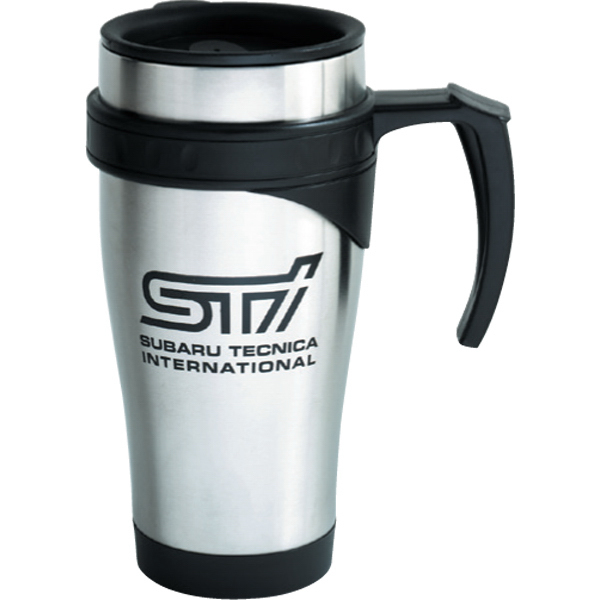 Promotional 15 oz Stainless / Plastic Traveler Mug