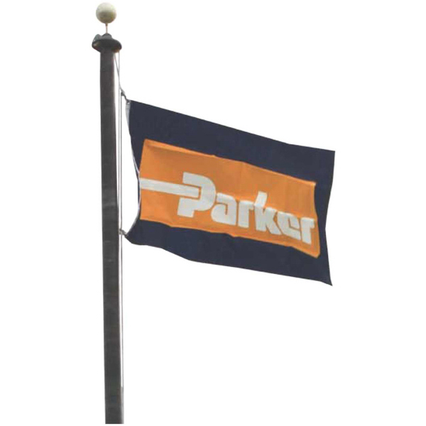 Promotional Double-Faced Screen-Printed Nylon Flag