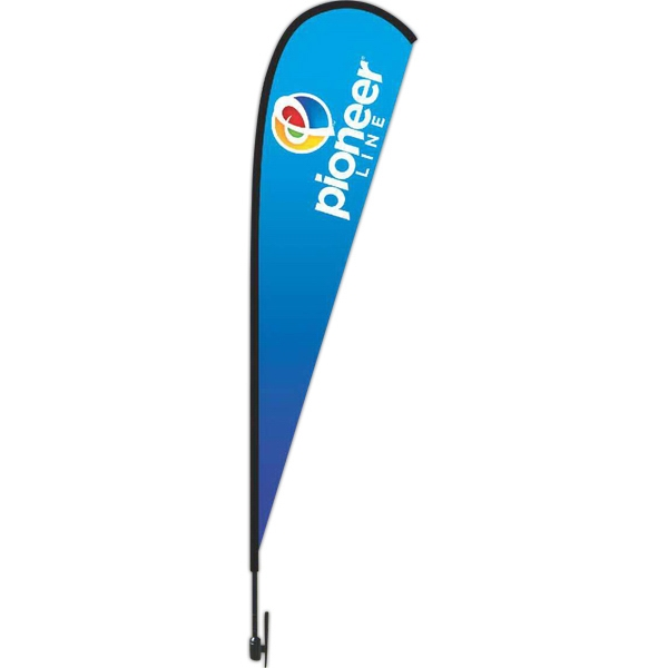 Imprinted 8 Foot Tear Drop Flag Kit