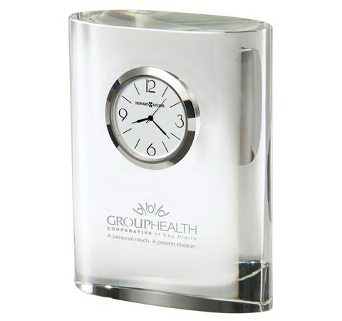 Personalized Fresco Crystal Award Clock