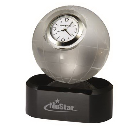 Printed Axis Crystal Award Clock