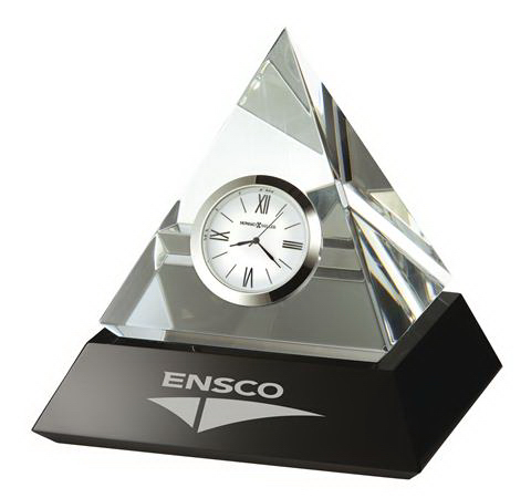 Customized Summit Crystal Award Clock