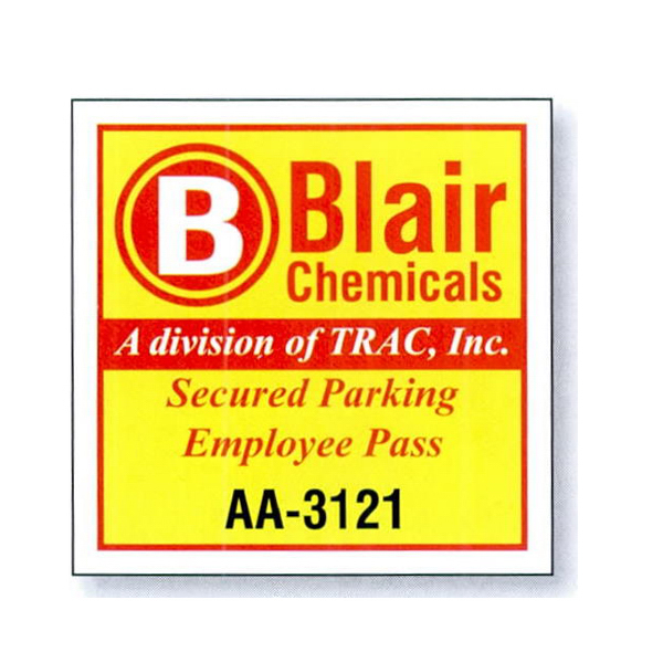 Imprinted White Reflective Parking Permit