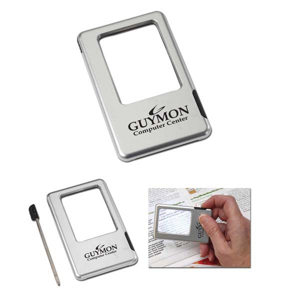 Printed Lighted Magnifying Glass & Pen