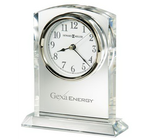 Promotional Flaire Crystal Award Clock