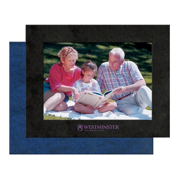 "Promotional Leatherette Picture Frame, 4"" x 6"""