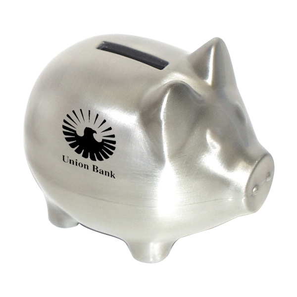 Custom Pewter Piggy Bank