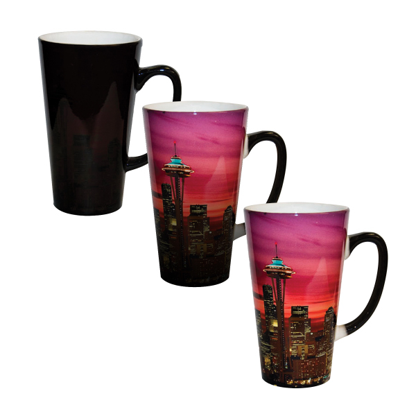 Personalized 17 oz Color Changing Latte Mug (Black)