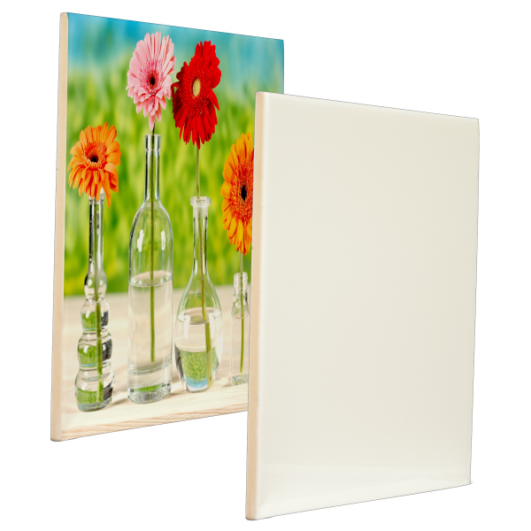 "Imprinted 8"" x 8"" Ceramic Photo Tile (Gloss Finish)"