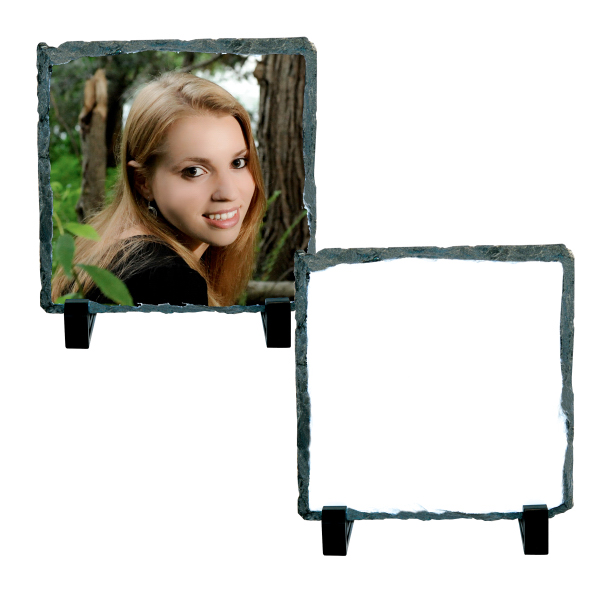 "Personalized Photo Slate - Small Square (5.85"" x 5.85"")"