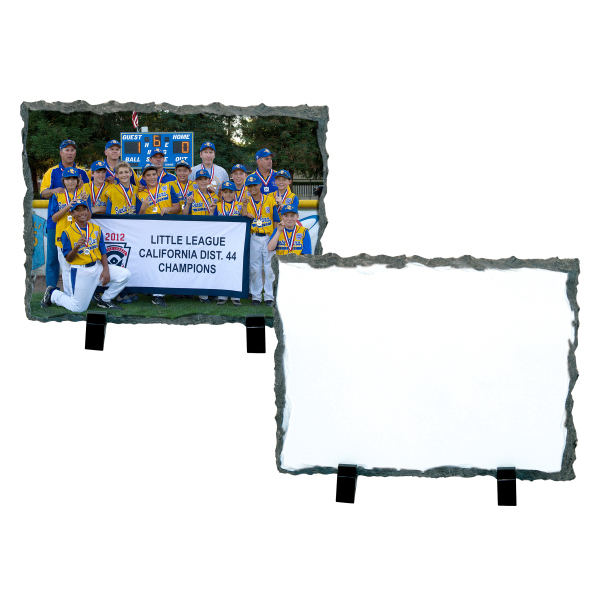 "Imprinted Photo Slate - Medium Rectangle (7.2"" x 5.85"")"