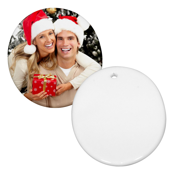 """Personalized 3"""" Oval Christmas Ornament w/ Hole"""