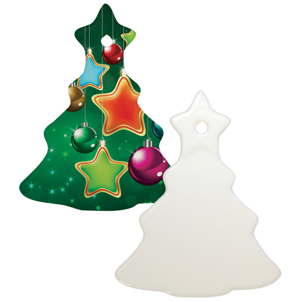 "Printed 3"" Tree Christmas Ornament w/ Hole"