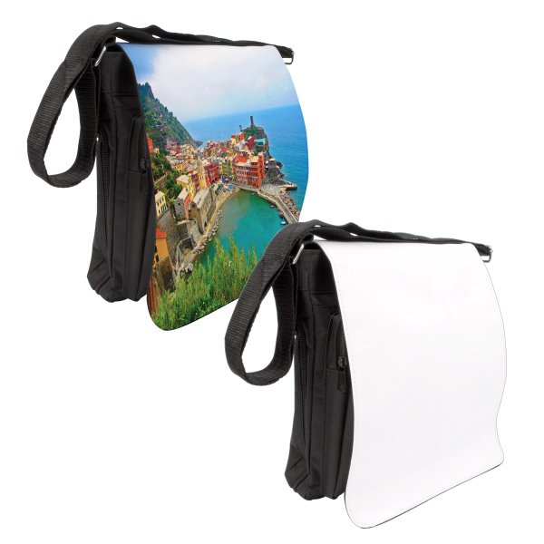 Custom Medium Photo Messenger Bag (Black)