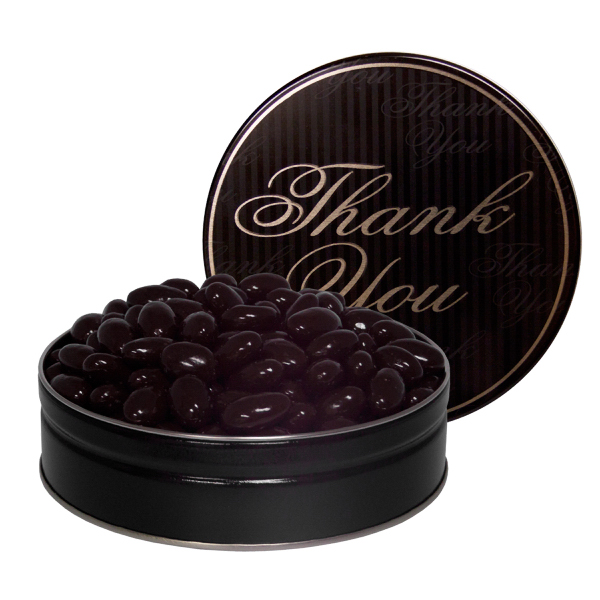 Promotional The Grand Tin with Chocolate Almonds - Thank You Design