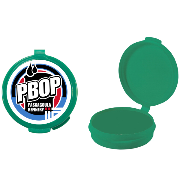 Promotional Green Empty Plastic Pill Case