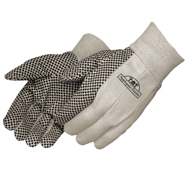 Printed Canvas Work Gloves with PVC Dots
