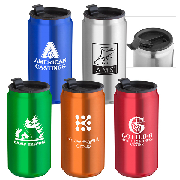 Custom 14 oz. Soda Can Travel Tumbler