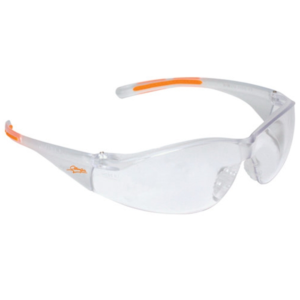 Promotional Lightweight wrap around safety glasses with nose piece